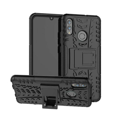 AMZER Hybrid Warrior Kickstand Case for Huawei Honor 10 Lite / P Smart (2019) - Black/ Black - fommystore