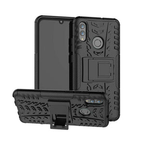 AMZER Hybrid Warrior Kickstand Case for Huawei Honor 10 Lite / P Smart (2019) - Black/ Black