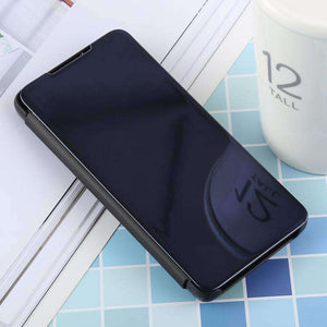 AMZER Mirror Horizontal Flip PU Leather Case With Holder for Samsung Galaxy S10