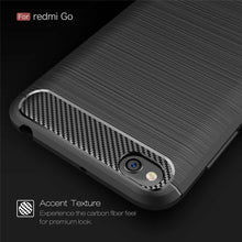 Load image into Gallery viewer, AMZER Rugged Armor Carbon Fiber Design ShockProof TPU for Xiaomi Redmi Go - Black - fommystore