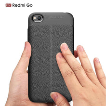 Load image into Gallery viewer, AMZER Premium Leather Texture Design Slim TPU Case for Xiaomi Redmi Go - Black - fommystore