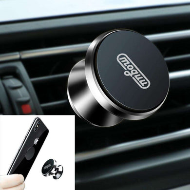 Universal 360° Rotation Aluminium Alloy Car Air Vent Magnetic Phone Holder - Black - fommystore