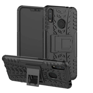 AMZER Hybrid Warrior Kickstand Case for Asus Zenfone Max (M2) ZB633KL - Black