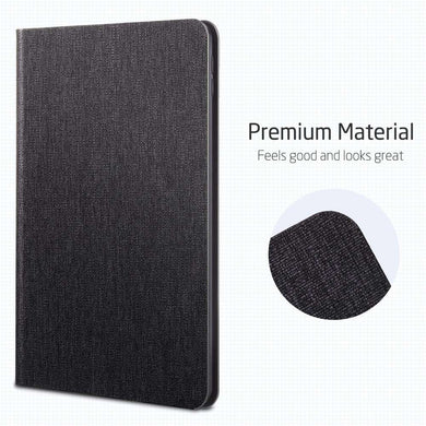 AMZER PU Leather Case for iPad Mini 2019 With Holder & Sleep/Wake-up Function - Black - fommystore