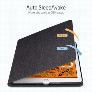 AMZER PU Leather Case With Holder & Sleep/Wake-up Function - Black for iPad Mini 5th Gen - fommystore