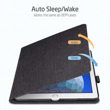 Load image into Gallery viewer, AMZER PU Leather Case for iPad Air 10.5 inch 2019 With Holder & Sleep/Wake-up Function - Black - fommystore