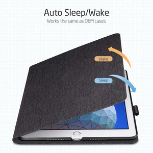 AMZER PU Leather Case for iPad Air 10.5 inch 2019 With Holder & Sleep/Wake-up Function - Black - fommystore