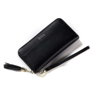 AMZER Tassel Style Large Capacity PU Hand Wallet/ Purse/ Phone Bag with Card Slots