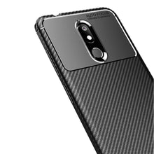 Load image into Gallery viewer, AMZER Rugged Armor Carbon Fiber Design ShockProof TPU for Nokia 3.2 - Black - fommystore