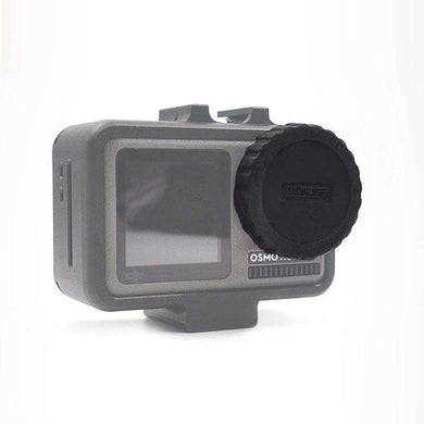 Silicone Protective Lens Cap for DJI Osmo Action - Black - fommystore