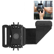 Load image into Gallery viewer, Premium High Quality 180 Degree Rotatable Sports/ Jogging/ Cycling/ Gym Phone Arm Band for 4 - 5.5 Inch Phone - Black - fommystore