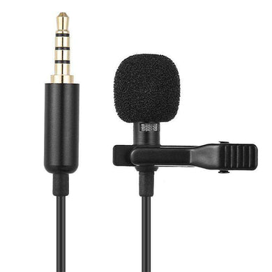 AMZER 1.5m Lavalier Wired Recording Microphone Mobile Phone Karaoke Mic - Black - fommystore