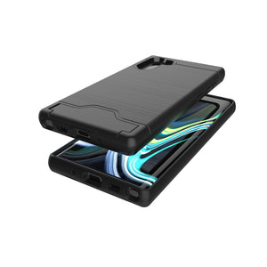 AMZER Shockproof Rugged Protective Case with Card Slot for Samsung Galaxy Note 10+ - Black - fommystore