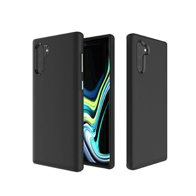 AMZER Hybrid Anti Slip Dual Layer Case for Samsung Galaxy Note 10+ - Black - fommystore