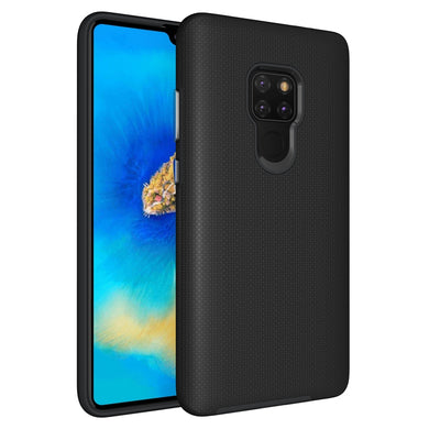 AMZER Hybrid Anti Slip Dual Layer Case for Huawei Mate 20 - Black - fommystore