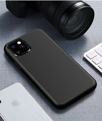 AMZER Pudding Soft TPU Skin Case for iPhone 11 Pro Max - Black - fommystore