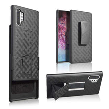 Load image into Gallery viewer, AMZER Shellster Hard Case With Kickstand for Samsung Galaxy Note 10+ - Black - fommystore