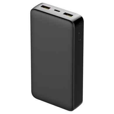 Universal 20000mAh Capacity Power Bank With Type-C 3.0 Quick Charge - Black for iPhone 11/ 11 Pro/ Pro Max - fommystore