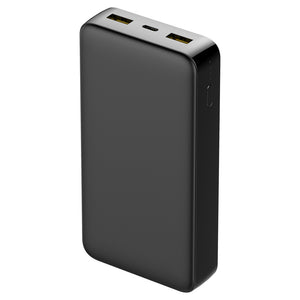 Universal 20000mAh Capacity Power Bank With Type-C 3.0 Quick Charge - Black for iPhone 11/ 11 Pro/ Pro Max