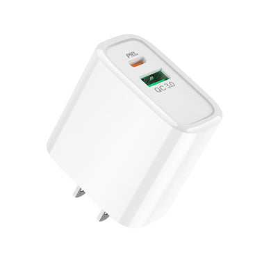 Premium C57 18W High Power PD+QC3.0 Fast Charger With US Plug - White - fommystore