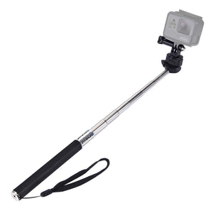 Extendable Handheld Selfie Monopod for GoProNEW HERO /HERO7 /6 /5 /5 Session /4 Session /4 /3+ /3 /2 /1, DJI Osmo Action, Xiaoyi and Other Action Camera