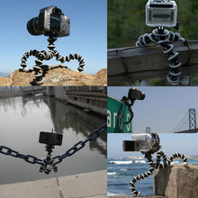 Load image into Gallery viewer, 2 in 1 Flexible Tripod with Camera Mount Adapter/ Phones Mount Adapter Set for GoPro NEW HERO / HERO7 /6 /5 /5 Session /4 Session /4 /3+ /3 /2 /1, Xiaoyi and Other Action Cameras, Mobile Phone - fommystore
