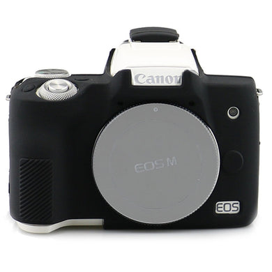 AMZER Silicone Protector Armor Skin Case for Canon EOS M50 - Black - fommystore