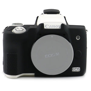 AMZER Silicone Protector Armor Skin Case for Canon EOS M50 - Black