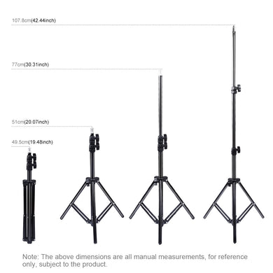 AMZER Extendable 20 - 43 Inch Metal Tripod Mount for Vlogging Video Light Live Broadcast - fommystore