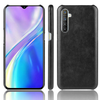 AMZER Shockproof Leather Texture PC + PU Protective Case for Oppo Realme XT /X2 /K5 - Black - fommystore