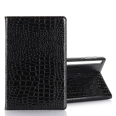 AMZER Crocodile Pattern Horizontal Flip Leather Case with Card Slots & Wallet for Samsung Galaxy Tab S6 10.5 SM-T860/ SM-T865  - Black - fommystore