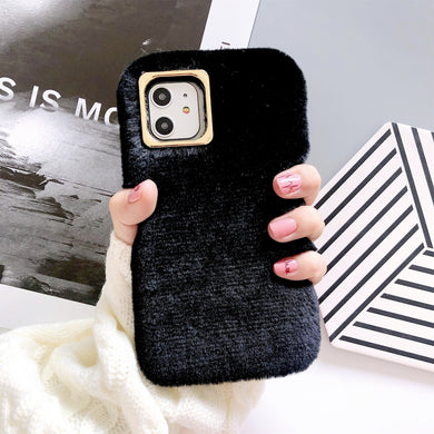 Soft Plush Material Phone Protector Case - Black for iPhone 11 Pro Max