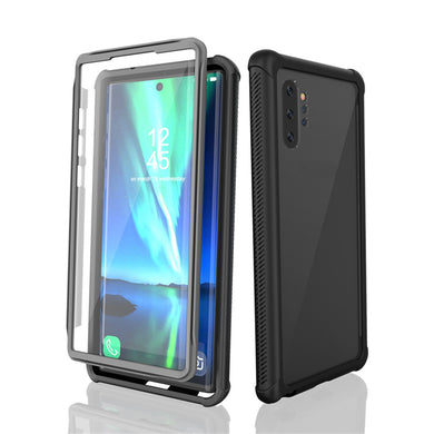 AMZER Ultra Slim Full Body Armor Case for Samsung Galaxy Note 10 Plus - Black