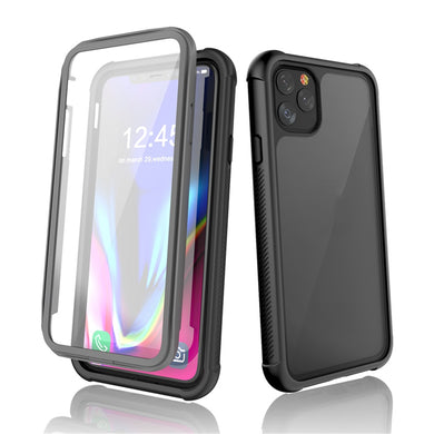 Shockproof Ultra-Thin Hybrid TPU + PC Protective Case - Black for  Apple iPhone 11 Pro Max