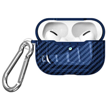 Load image into Gallery viewer, Shockproof Carbon Fiber Texture TPU Protective Case with Hook for Apple AirPods Pro