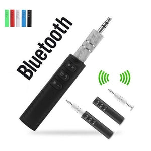 3.5mm Wireless Bluetooth Receiver Stereo Audio Music Bluetooth Receiver Adapter for Speaker Car Aux Hands Free Kit - Blue