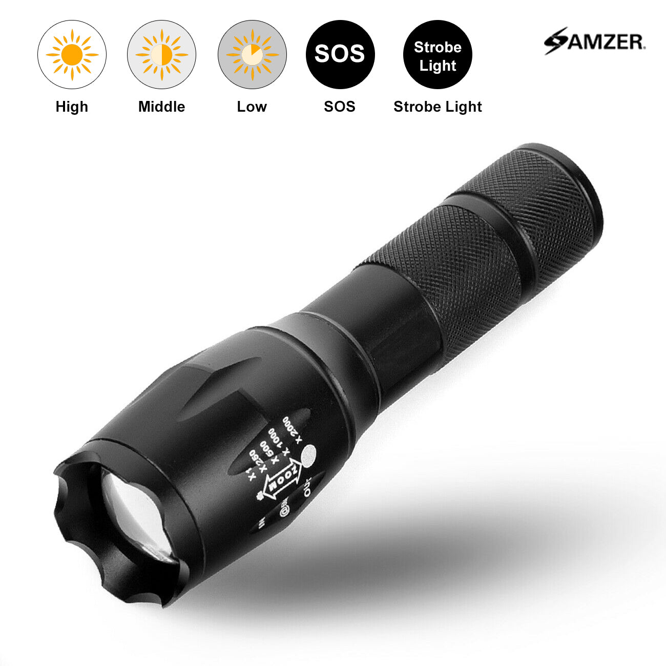 Waterproof Tactical Zoom Torch | Fommy