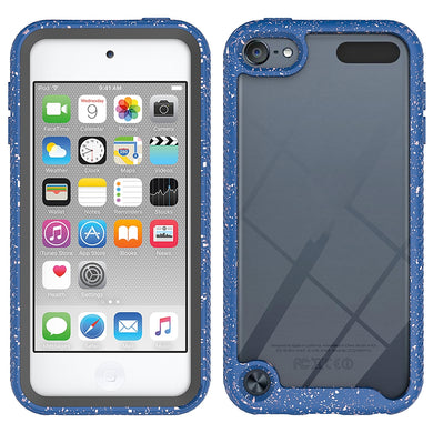 AMZER SlimGrip Bumper Hybrid Hard Shockproof Case for iPod Touch 5/6/7 - Blue