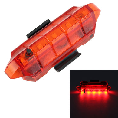 AMZER Bicycle USB Rechargeable Taillight LED Tail Lamp (Red Light)
