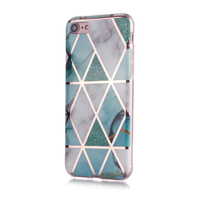AMZER Marble Design Soft TPU Protective Case for iPhone 7/8, iPhone SE 2020 - Green White