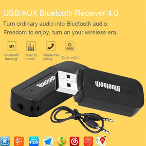 AMZER 2 in 1 USB & 3.5mm Bluetooth Receiver