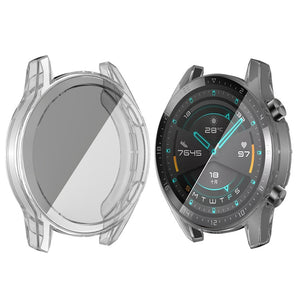 AMZER Full Coverage TPU Case with Screen Protection Huawei Watch GT2 46mm - Clear