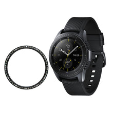 Load image into Gallery viewer, AMZER Stainless steel Ring And Diamond Watch Protective Case For Gear S2 Smart Watch 42mm - Black