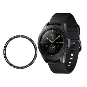 AMZER Stainless steel Ring And Diamond Watch Protective Case For Gear S2 Smart Watch 42mm - Black