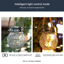 Load image into Gallery viewer, 20 LED Automatic Solar Energy Glass Bottle Pendent Lamp IP55 Waterproof Outdoor Garden Decoration Light - Warm White