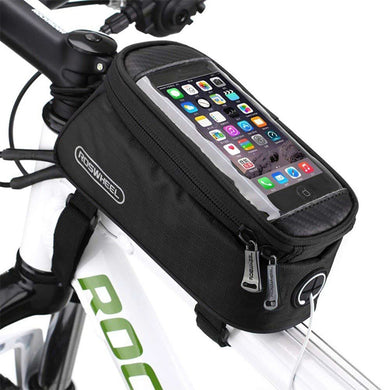 Roswheel Cycling Cell Phone Bag for 4.8 inch Mobile Phone - Black