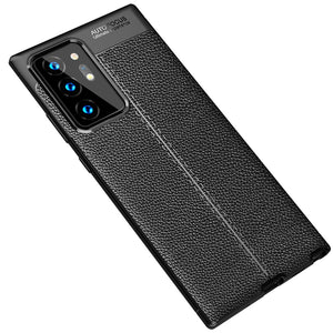 AMZER Carbon Fiber Texture TPU Shockproof Protective Case for Samsung Galaxy Note20 Ultra - Black