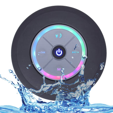 Wireless Bluetooth Speaker Waterproof Led FM Radio Subwoofer Bluetooth Column TF Card Suction Cup Mini Shower Speaker