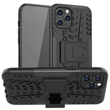 Load image into Gallery viewer, AMZER Hybrid Warrior Dual Layer Kickstand Case for Apple iPhone 12 Pro Max - Black