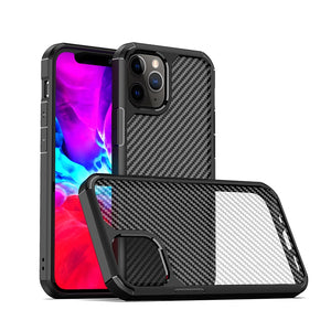 AMZER SlimGrip Carbon Fiber Texture Ultra Hybrid Case for Apple iPhone 12 mini